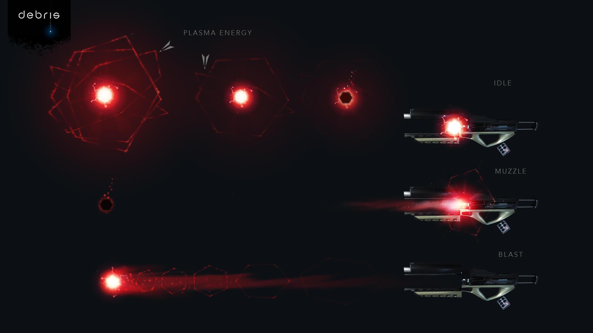 Debris Flare VFX concept
